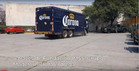 Unidos contra el coronavirus. Grupo Modelo dona gel antibacterial al IMSS