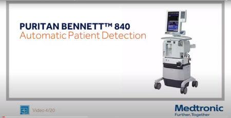Video 4 Puritan Bennett PB840 Detección automática del paciente