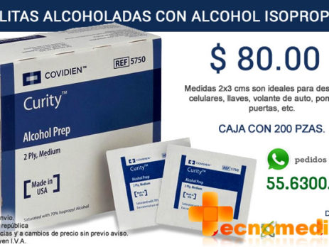 Toallitas alcoholadas Covidien REF 5750