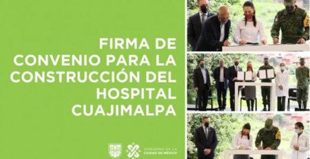 Construcción Hospital General de Cuajimalpa.
