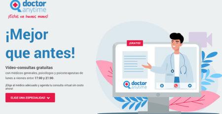 Doctor Anytime videoconsultas gratuitas